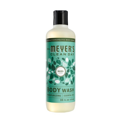 Mrs. Meyer's Clean Day Body Wash Basil Scent - 16oz Bottle - image 1 of 3
