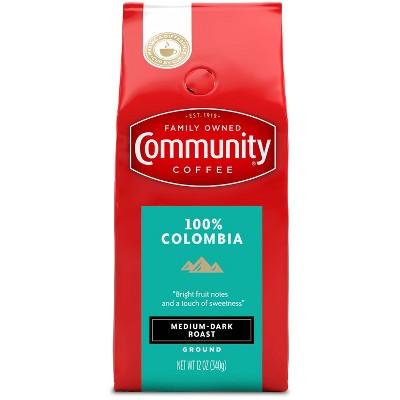 Community Coffee 100% Colombia Altura Medium Dark Roast Ground Coffee - 12oz