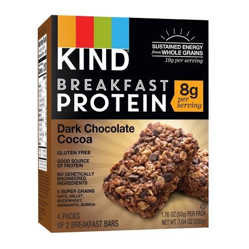 KIND Dark Chocolate Cocoa Protein Breakfast Bars - 4ct - image 1 of 4