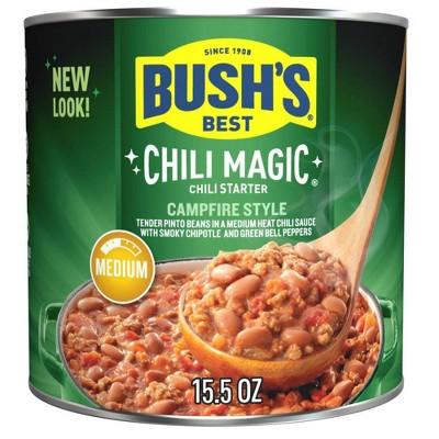 Bush's Magic Chili Campfire Medium Chili Starter - 15.5oz