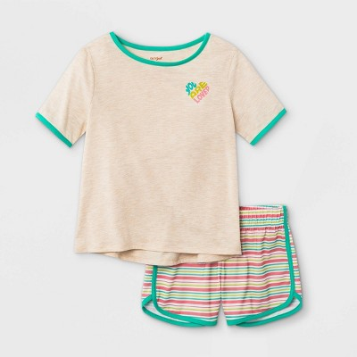 Girls' 2pc Pajama Set - Cat & Jack™ Heather Oatmeal