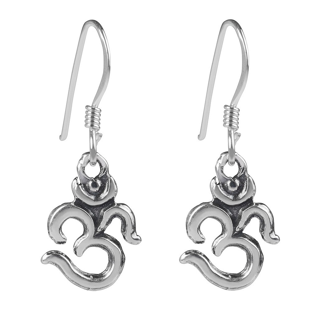 Women's Journee Collection Sterling Silver Om Emblem Dangle Earrings - Silver Flaunt in high fashion with these earrings from Journee Collection. These dangle earrings fashion Om emblems and are finished with high polish to complete this great look. Color: Silver. Gender: Female. Age Group: Adult.