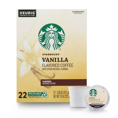 Starbucks Flavored Coffee K-Cup Coffee Pods — Vanilla for Keurig Brewers — 1 box (22 pods)
