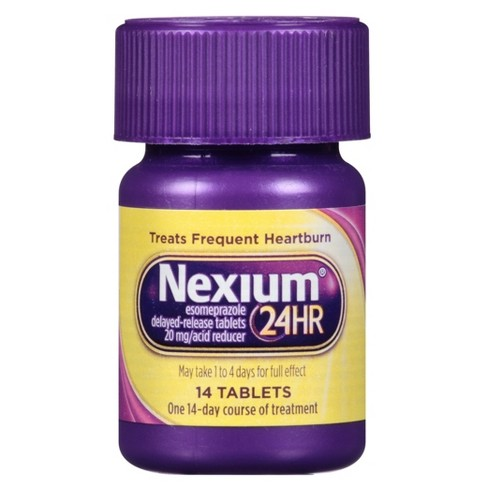 Nexium 24-Hour Delayed Release Heartburn Relief Tablets with Esomeprazole Magnesium Acid Reducer - 14ct - image 1 of 5