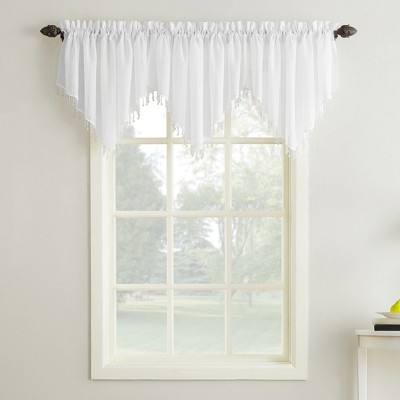 "51""x24"" Erica Crushed Sheer Voile Ascot Valance - No. 918"