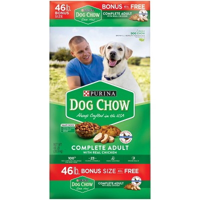 Purina Dog Chow with Real Chicken Adult Complete & Balanced Dry Dog Food