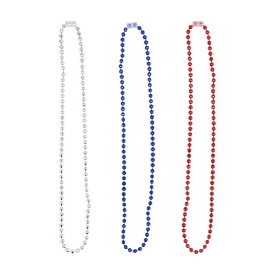 6pk Parade Bead Necklace Red White Blue - Sun Squad™