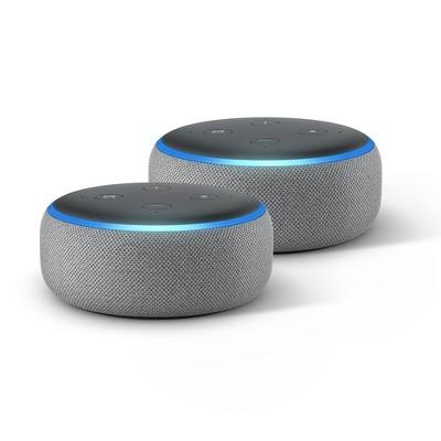 Amazon Echo Dot (3rd Generation)Gray - 2 Pack
