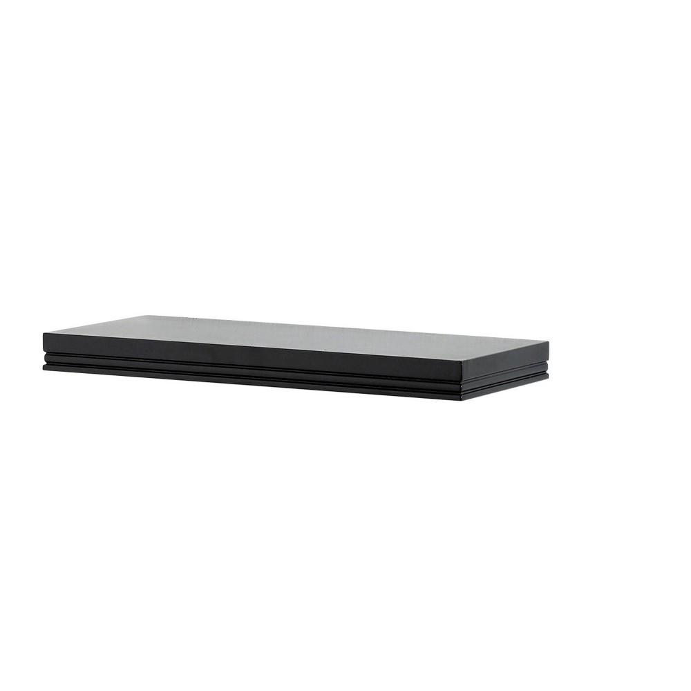 """18"""" x 8"""" Modern Wall Shelf Black - InPlace, Size: 18"""" x 8"""""""