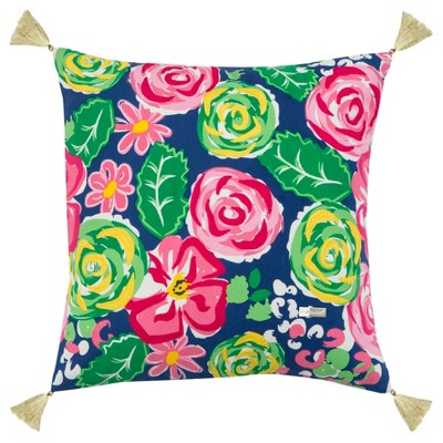 Simply Southern Floral Throw Pillow Pink - Rizzy Home