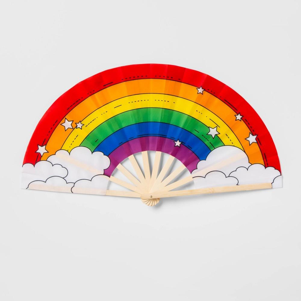 Image of Pride Gender Inclusive Rainbow Bamboo Fan