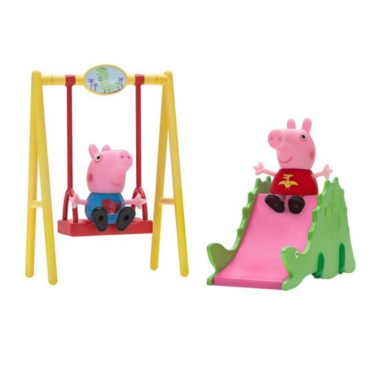 Peppa Pig Peppa & George Dinosaur Park Playtime Set image number null
