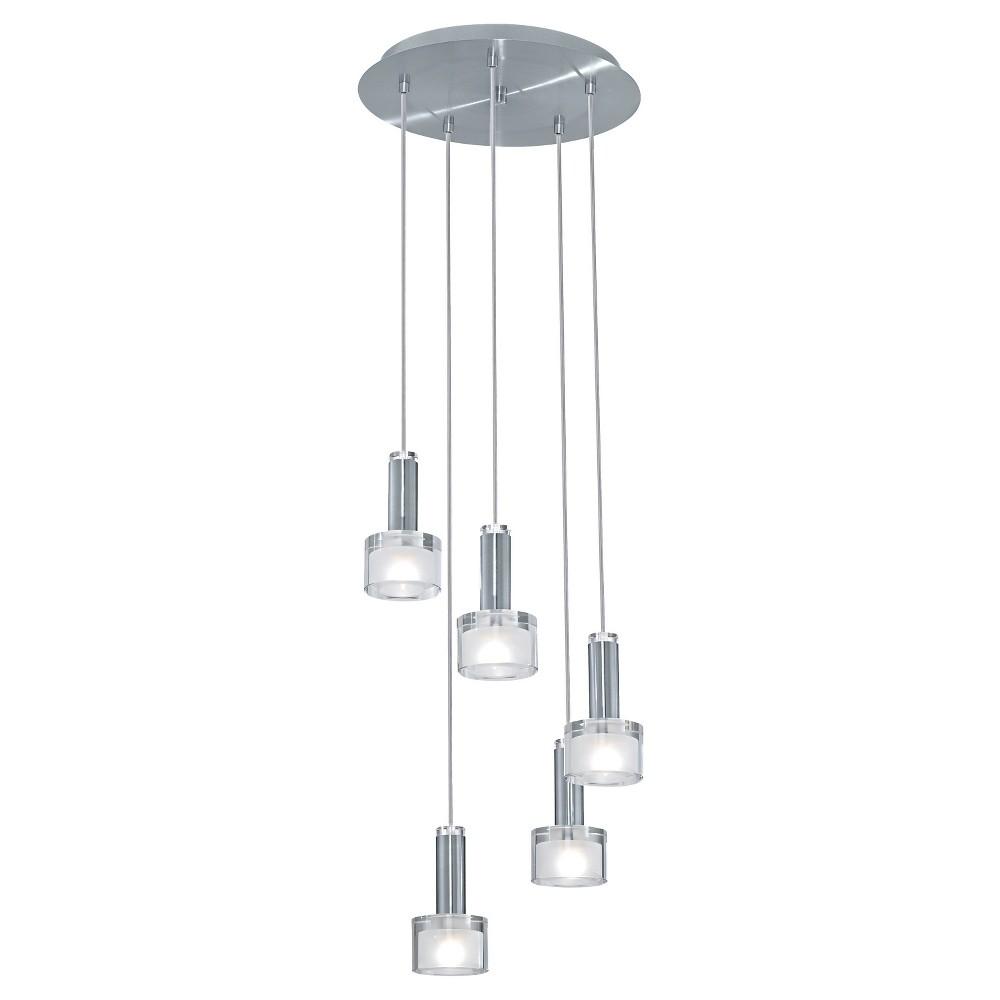 "Image of ""Fabiana Multi Light Pendant Ceiling Light 13.74"""" Diameter Chrome - Eglo"""