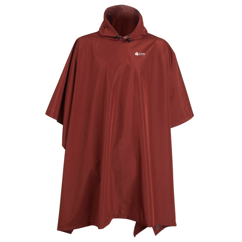 Image of Sierra Designs Adult Poncho - Red