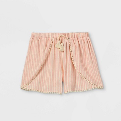 Girls' Tie Waist Shorts - art class™