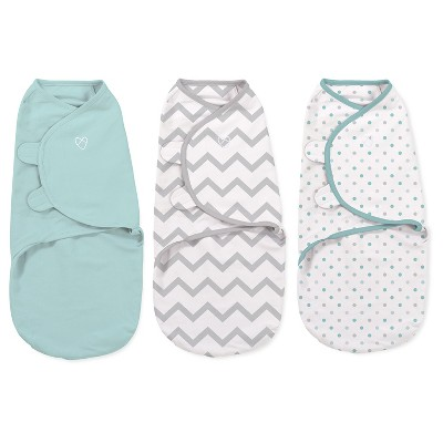 SwaddleMe Original Swaddle 3pk - Mint Dots/Gray Chevron (S, 0-3mo)