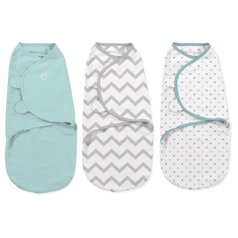 SwaddleMe Original Swaddle 3pk - Mint Dots/Gray Chevron (S, 0-3mo) - image 1 of 2