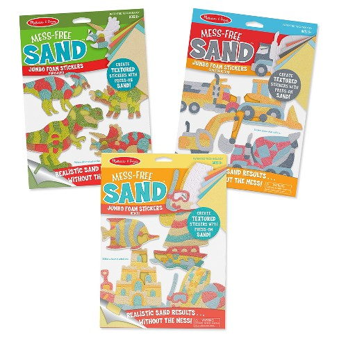 Melissa & Doug® Mess-Free Sand Jumbo Foam Stickers Bundle - image 1 of 7