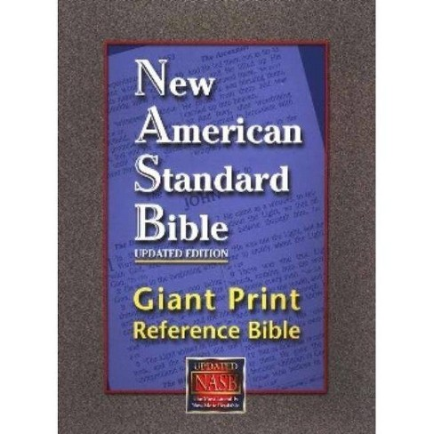 Giant Print Reference Bible-NASB - (Leather_bound) - image 1 of 1
