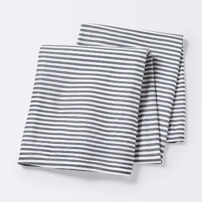 Jersey Swaddle Blanket Stripe - Cloud Island™ White/Gray