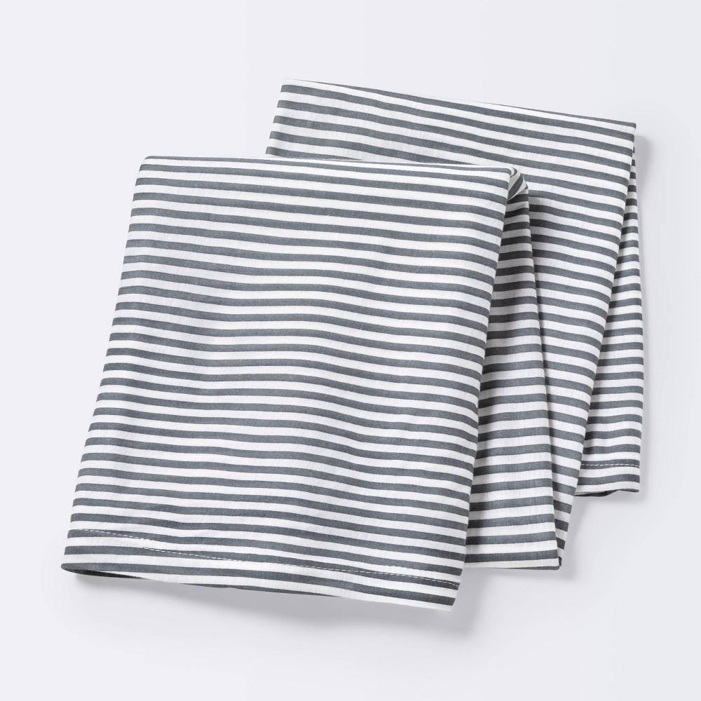 Jersey Swaddle Blanket Stripe Cloud Island 8482 White Gray