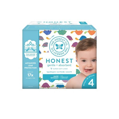 The Honest Company Happy Together Club Box Disposable Diapers - Size 4 (60ct)