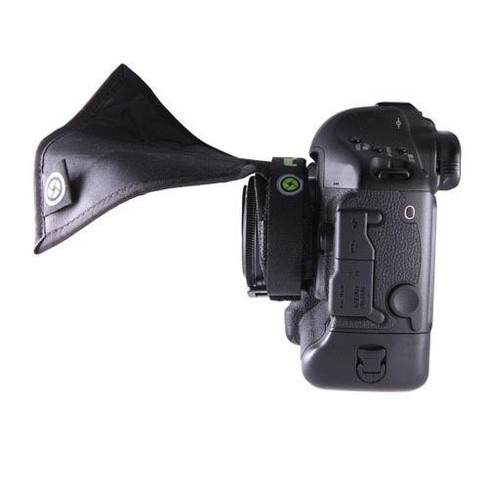 Flex Lens Shade SL1 with Strap for Small & Mirrorless Lenses (52mm Lens Glass or Smaller) - image 1 of 4