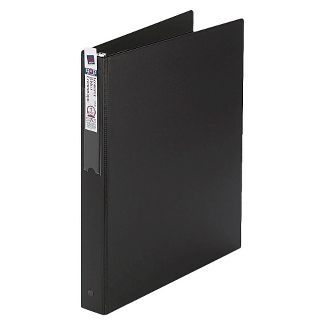 Avery Economy Binder, Label Holder, 1u0022 Round Rings, 175-Sheet Capacity, Black (4301)