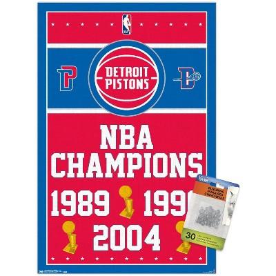 Trends International NBA Detroit Pistons - Champions 17 Unframed Wall Poster Prints