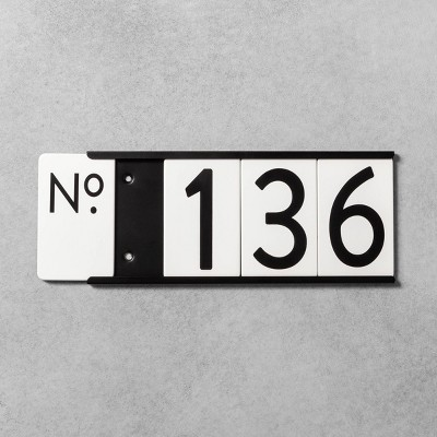 House Numbers Mounting Plate Black 4 Spaces - Hearth & Hand™ with Magnolia