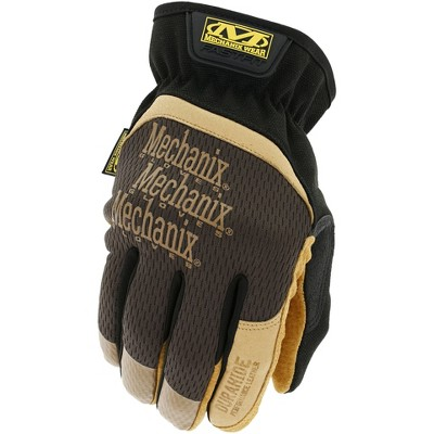 Leather FastFit Gardening Gloves Brown - Mechanix Wear