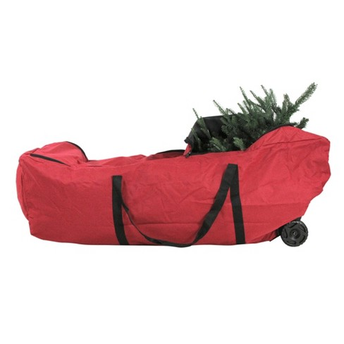 Christmas Tree Storage Bag.Tree Keeper 56 Red Ez Roller Christmas Tree Storage Bag With Wheels