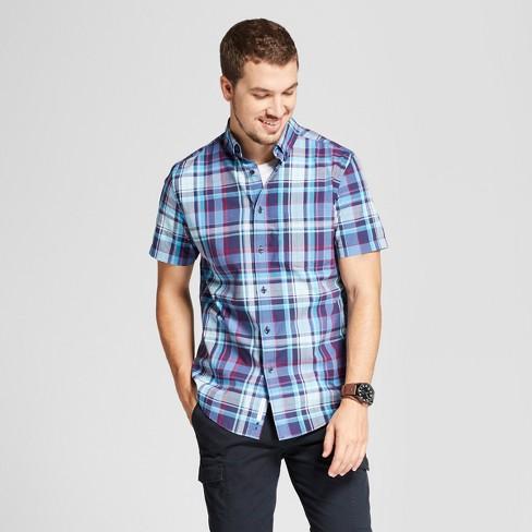 Men's Short Sleeve Standard Fit Poplin Button-Down Shirt - Goodfellow & Co™ - image 1 of 3