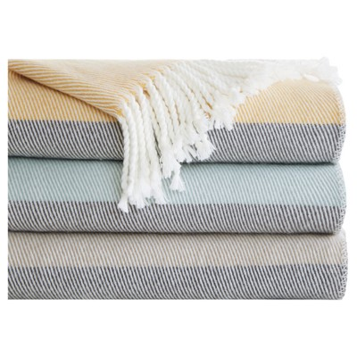 Blue Solid Throw Blankets ( 50x60 )