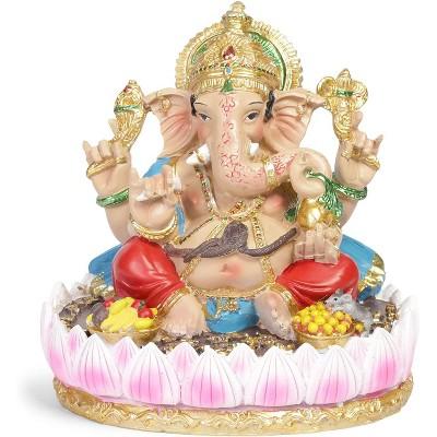 "Juvale 7"" Ganesh Hindu Elephant Lord Statue Ganesha God of Success Figurine for Home Garden Decor Gift"