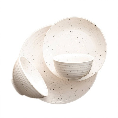 16pc Stoneware Siterra Dinnerware Set White - Sango - image 1 of 4