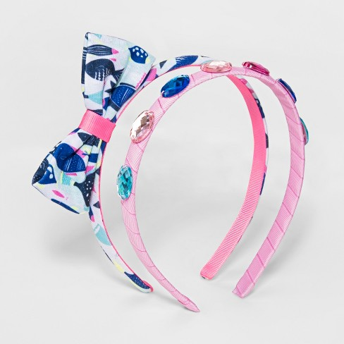 Girls' 2pk Oceans of Life Headbands - Cat & Jack™ One Size - image 1 of 2