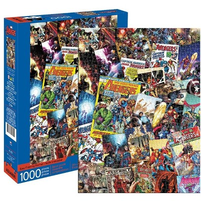 NMR Distribution Marvel Avengers Comic Collage 1000 Piece Jigsaw Puzzle