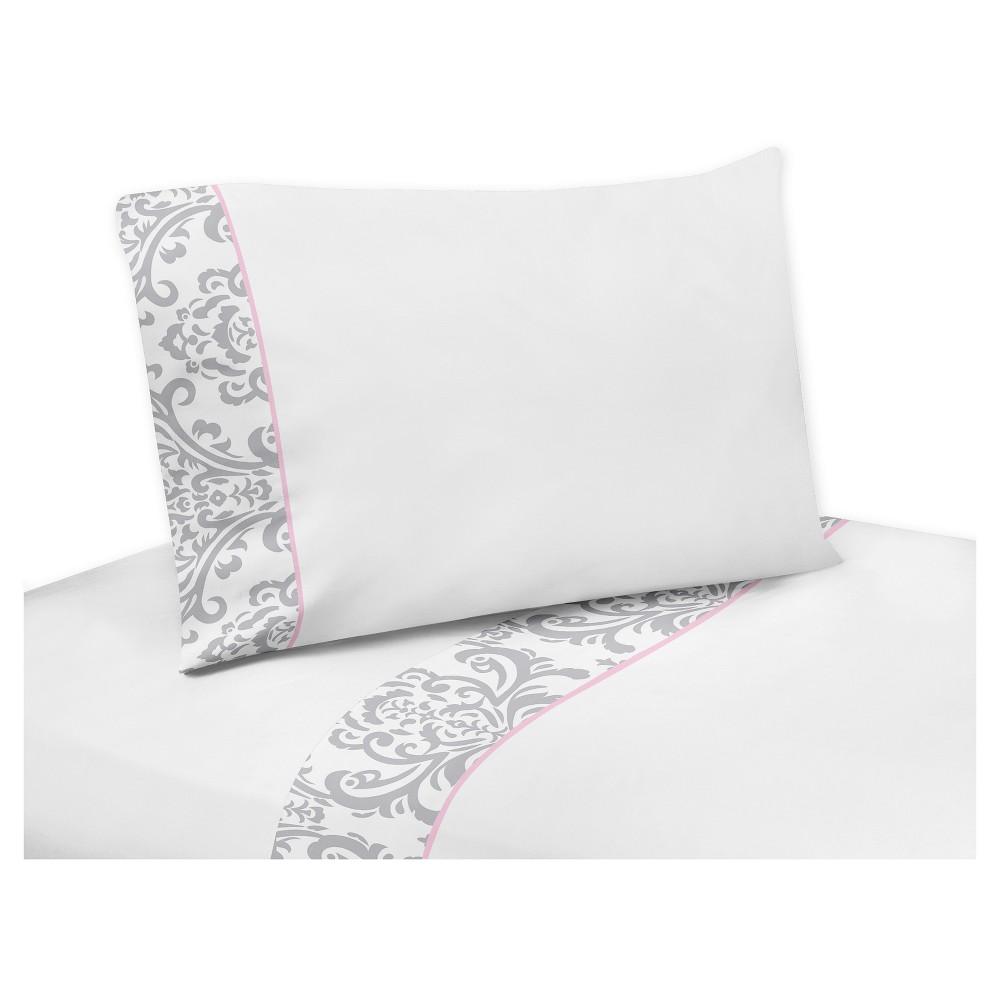 Gray & White Sheet Set (Queen) - Sweet Jojo Designs
