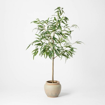 "73"" Artificial Weeping Eucalyptus Tree in Pot - Threshold™"