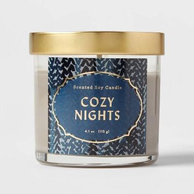 Lidded Glass Jar Cozy Nights Candle - Opalhouse™