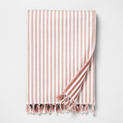 Stripe Beach Towel Dusty Rose / Sour Cream - Hearth & Hand™ with Magnolia