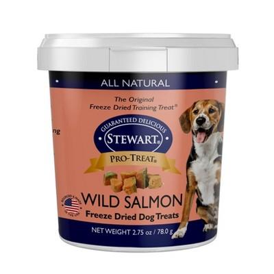 Stewart Freeze-Dried Wild Salmon Dog Treat - 2.75oz Tub