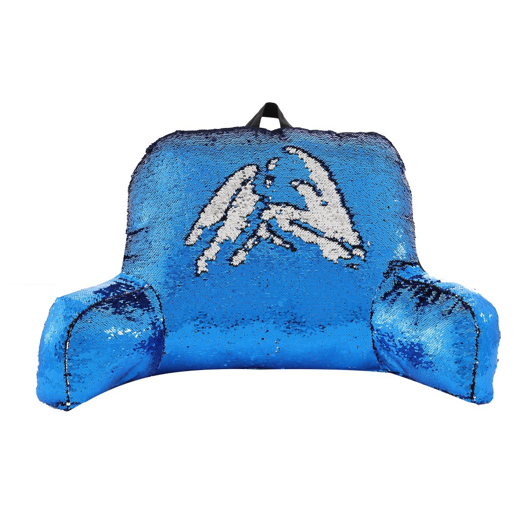 Image of Blue Sequins Support Pillow - VCNY Home