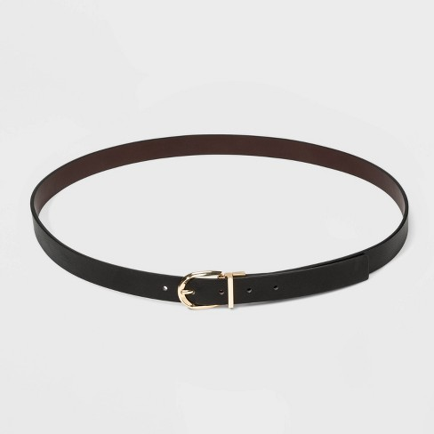 Women's Reversible Belt - A New Day™ Brown/Black - image 1 of 3