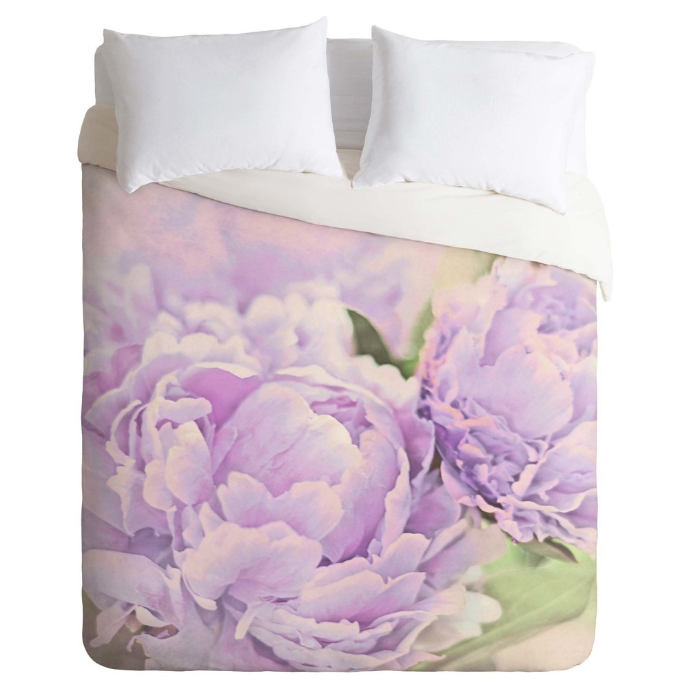 Purple Lisa Argyropoulos Lavender Peonies Duvet Cover Set (King) - Deny Designs