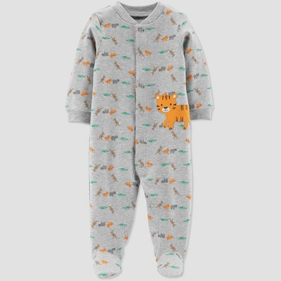 Baby Boys' Tiger Sleep 'N Play One Piece Pajama - Just One You® made by carter's Gray 6M
