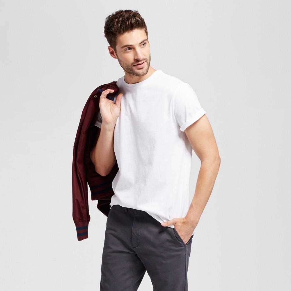 Men's Standard Fit Crew T-Shirt - Goodfellow & Co White XL
