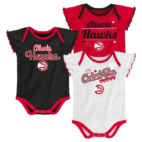 50d65e01b82 NBA Atlanta Hawks Girls  Draft Pick 3pk Body Suit Set   Target