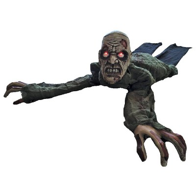 Crawling Zombie Animated Halloween Decorative Holiday Scene Props